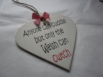Original Welsh CWTCH Wooden Sign