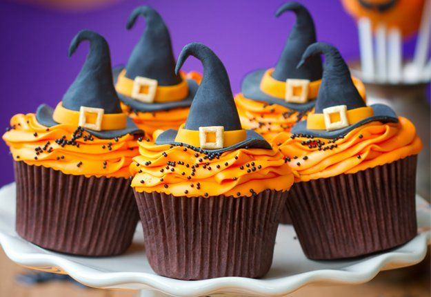 Witchy cupcakes - Halloween food ideas   Mouths of Mums.. click image for more great ideas x
