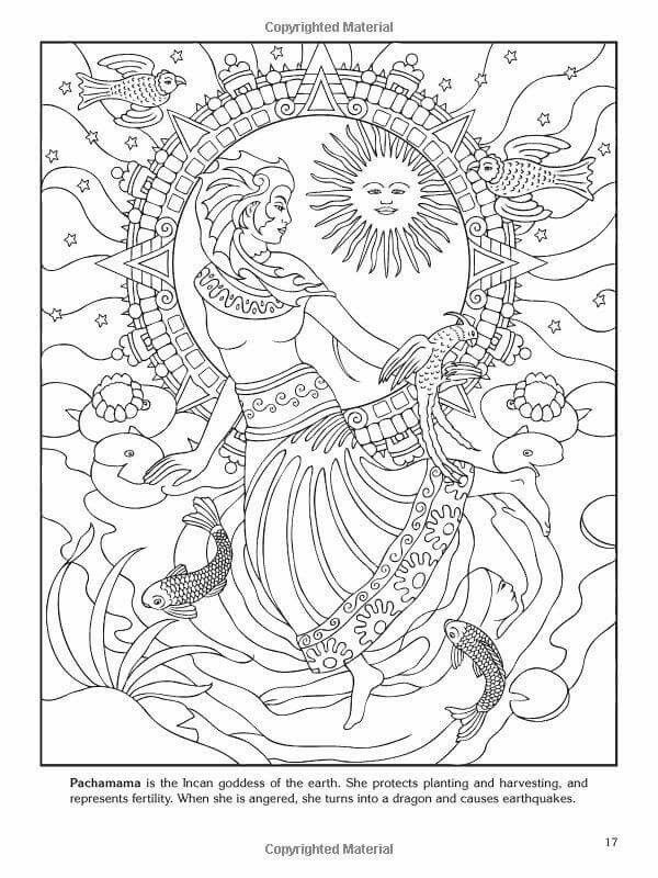 Incan goddess coloring pages
