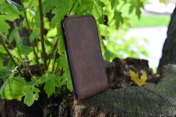 Leather Iphone 6 flipcase van NHLdesign op Etsy