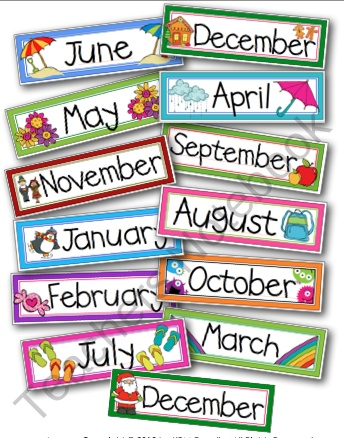 Teachers Notebook Free Month Cards Pinterest Magazine