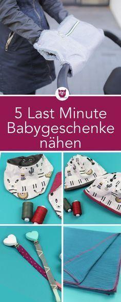 5 Last-Minute-Geschenke zum Nähen: Schnullerkette, Mamatuch, Mütze mit