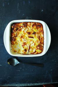 Lidia Bastianich's Pear Bread Pudding