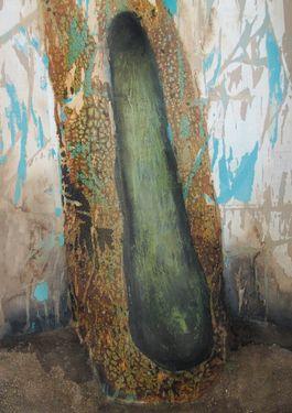 "Saatchi Art Artist Ummuhan Yilmaz; Painting, ""Crib"" #art"