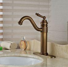 Wideapread de bronze antigo torneira da pia do banheiro torneira torneira quente e fria(China (Mainland))