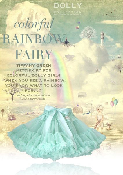 DOLLY by Le Petit Tom ® RAINBOW FAIRY tiffany green