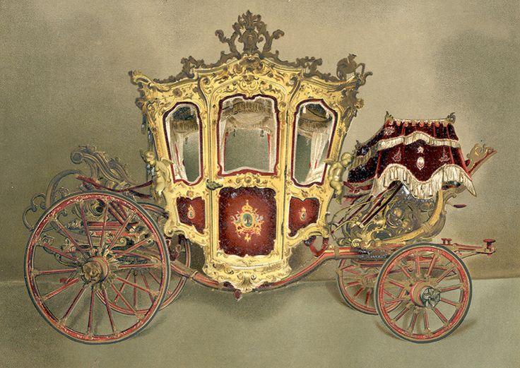 La casa Cesar Scala de Milán elaboró este carruaje en 1864. En ocasiones Maximiliano y Carlota recorrieron el Paseo de la Emperatriz en él. Estilo barroco con molduras de plata y bronce, con esculturas de niños y ángeles, esta carroza nos llena de sueños esplendorosos de tiempos pasados.
