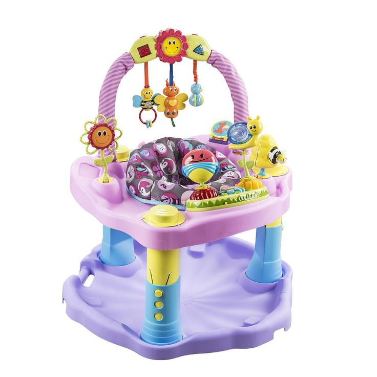 Exersaucer double fun pink bumbly exersaucer babies for Chambre bebe toys r us