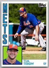 TIM TEBOW 2016 New York Mets Rookie Baseball Card 1984 Topps Style in Memorabilia de deporte, tarjetas, fans, Tarjetas coleccionables deportivas, Tarjetas de béisbol | eBay