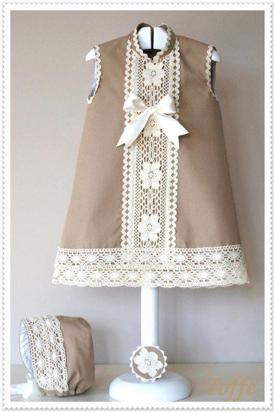 El armario de Inйs. Girl dress. Camel.: