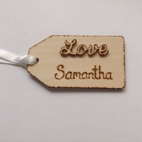 Personalised tags gift tag personalised tag by Melysweddings, £2.50