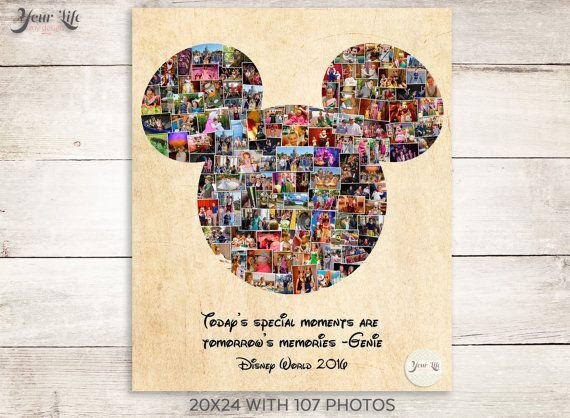 Remember your Disney Family Vacation by displaying all of your favorite Disney photographs! Display your family vacation photos every year in your home. You can use your trip photos, family photos, vacation photos, iPhone photos, instagram photos... possibilities are endless!