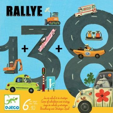 Djeco Rallye learn to count Multicoloured `One size Age: from 6 to 10 years old Calculation training Number of players: 2 to 5 Game of 15 minutes Guide and rules of the game in 5 languages http://www.comparestoreprices.co.uk/january-2017-7/djeco-rallye-learn-to-count-multicoloured-one-size.asp