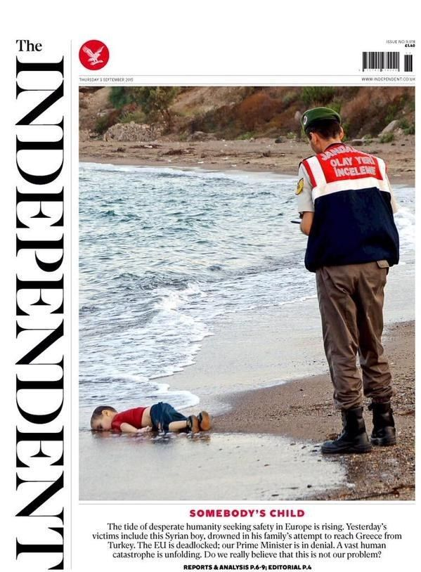 The Independent and various - 2nd September 2015 | Here Are The 10 Most Popular 2015 Newspaper Front Pages