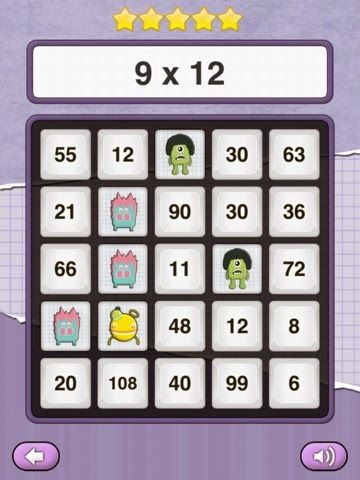 Fantastic and FREE app: Math Monster Bingo. Addition, subtraction, multiplication and division offered at three different levels. Great for K-4