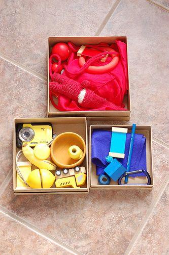 Cajas con colores