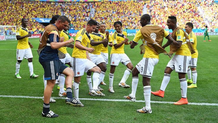 Brazil 2014: The best celebrations - FIFA.com James Rodriguez of Colombia celebrates scoring his team's first goal with his teammates