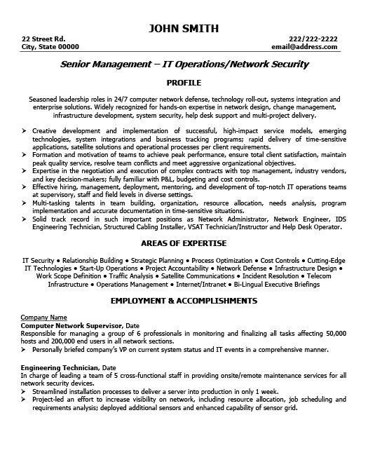 Senior Manager Resume Template   Premium Resume Samples & Example