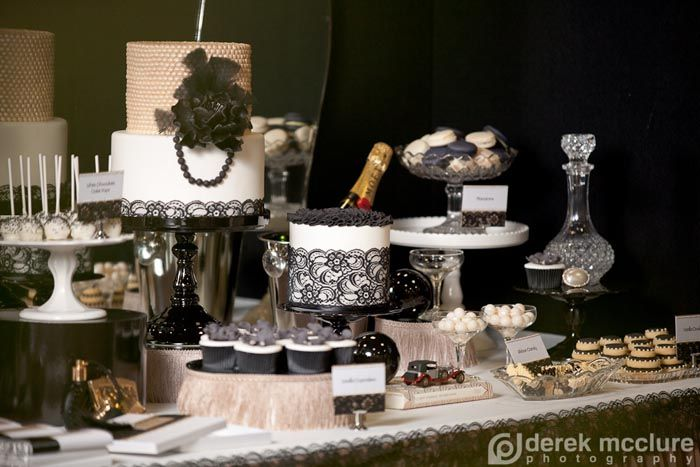 Great Gatsby Dessert Feature! LOVE! I once did a Great Gatsby entire ballroom when I worked at Disney! One of the best parties I ever designed!