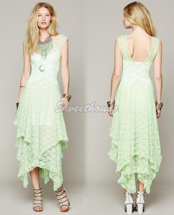 Платье кружево классические, европейский женщин принцесса стиль чисто сплайсинга слоистых полые неправильная вечер с низким вырезом на спине длинная 34купить в магазине Sweet_houseнаAliExpress