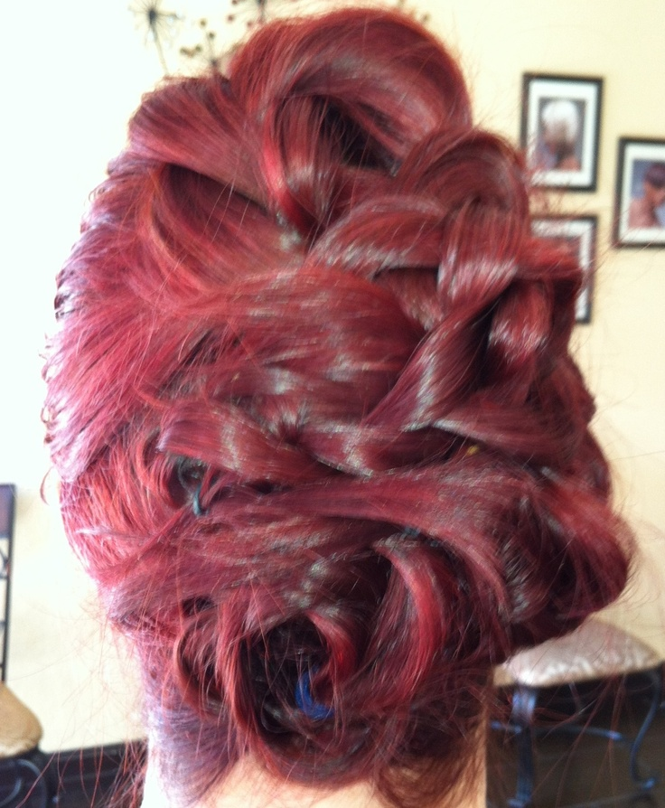 3 Side sections, braided loosely, and Pinned