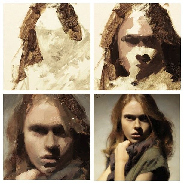 358 best art tutorials drawing and painting images on for Watercolor portrait tutorial