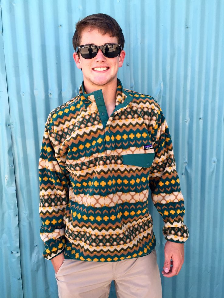 Patagonia Men's Synchilla Snap-T Pullover- Cliff Arbor Green from Shop Southern Roots TX
