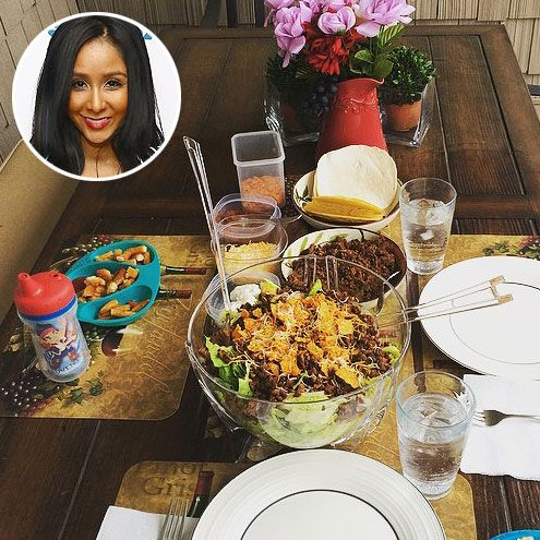 "Snooki's Cinco de Mayo spread, which featured her ""infamous Doritos salad."""