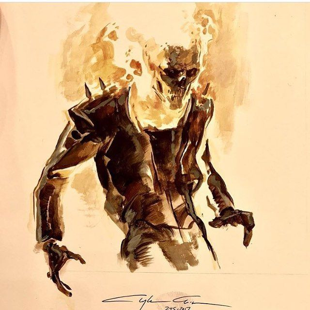 """1,029 Likes, 2 Comments - Comic Con Sketches (@comicconsketches) on Instagram: """"@claytoncrain does an awesome #ghostrider #sketch for @sanfranciscocomiccon 2017! #art #drawing…"""""""