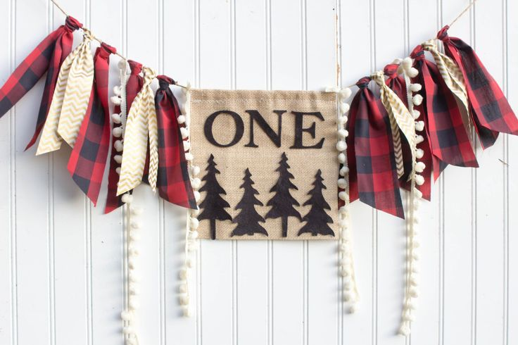 Woodland Lumberjack Happy Little Camper birthday party decoration highchair banner onederland buffalo plaid deer camping wild one by PrettyLittleClippie on Etsy https://www.etsy.com/listing/257236342/woodland-lumberjack-happy-little-camper