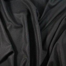 Soft and Lightweight Herringbone Wool Flannel – Black