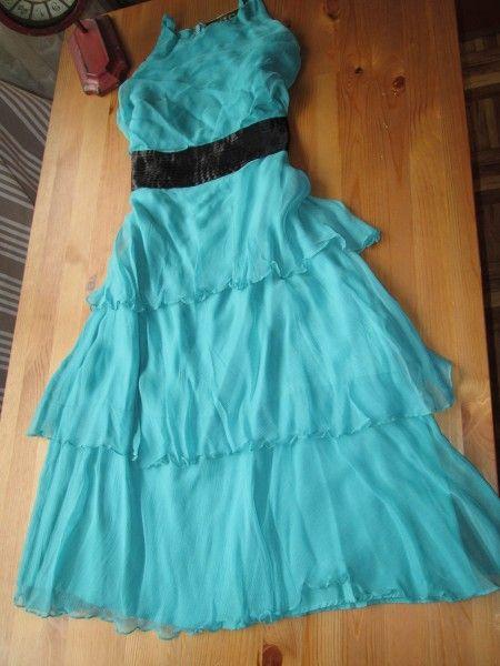 Vestido aguamarina Talla 40-42