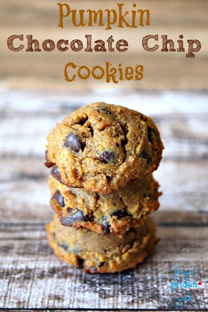 Pumpkin Chocolate Chip Cookies {Low Carb} {Diabetic Friendly}