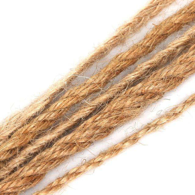 Natural Hemp Rope Jute Rope Rope Rope 5M 2/4/5 / 6mm Rope Beading Making Fashion Handicraft