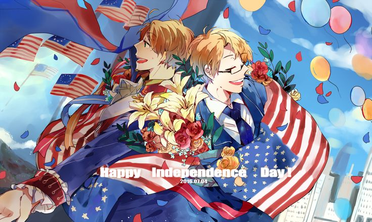 Pixiv Id 4916834, Axis Powers: Hetalia, United States, Multi-colored Ribbon, Country Flag, Balloon