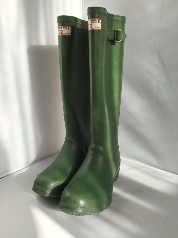 Vintage Huntress Wellies Rubber Rain Boots