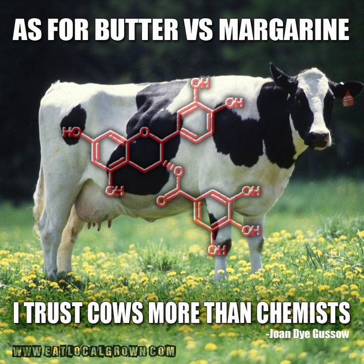 """""""As for butter versus margarine, I trust the cows more than chemists."""" ― Joan Dye Gussow  #butter #grassfed #realfood Find more @ eatlocalgrown.com"""