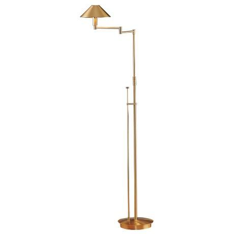 8 best lighting images on pinterest floor lamps floor standing holtkoetter brushed brass small shade swing arm floor lamp mozeypictures Gallery