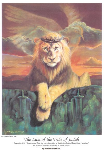 The Lion of the Tribe of Judah by William Hallmark