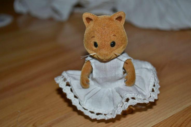 Sanny & Lina's Monday: Свадебное платье для мамы-котика Village Story & Sylvanian Families