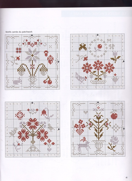 Lovely floral cross stitch patterns