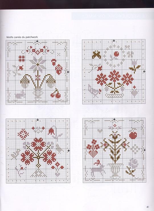 Lovely floral cross stitch patterns