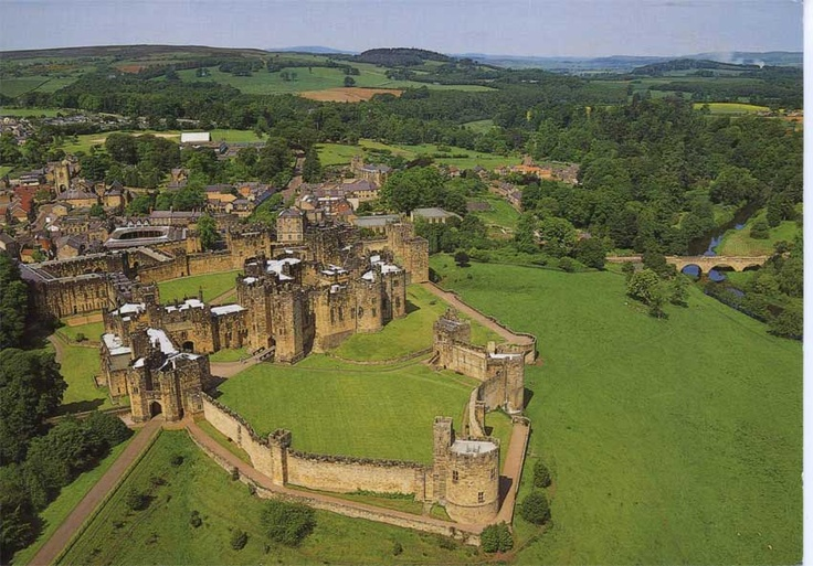 Alnwick castle, England. This is the castle used in the first two Harry Potter movies. Definitely going there someday.