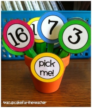 FREE- This set of classroom numbers includes- numbers 1-36 for student pick-me sticks, attendence counters, etc.