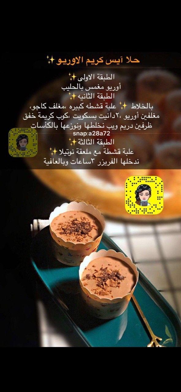 Pin By ريم On وصفات آيسكريم Yummy Food Dessert Save Food Cookout Food