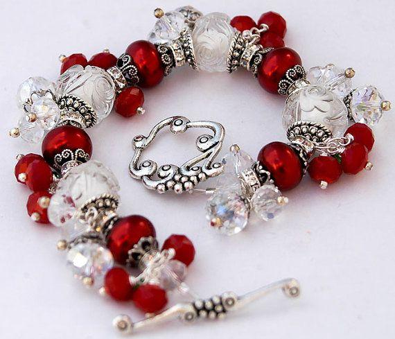 "** Christmas Jewelry ""Candy Cane Charm Bracelet"" @shalayneoriginals"