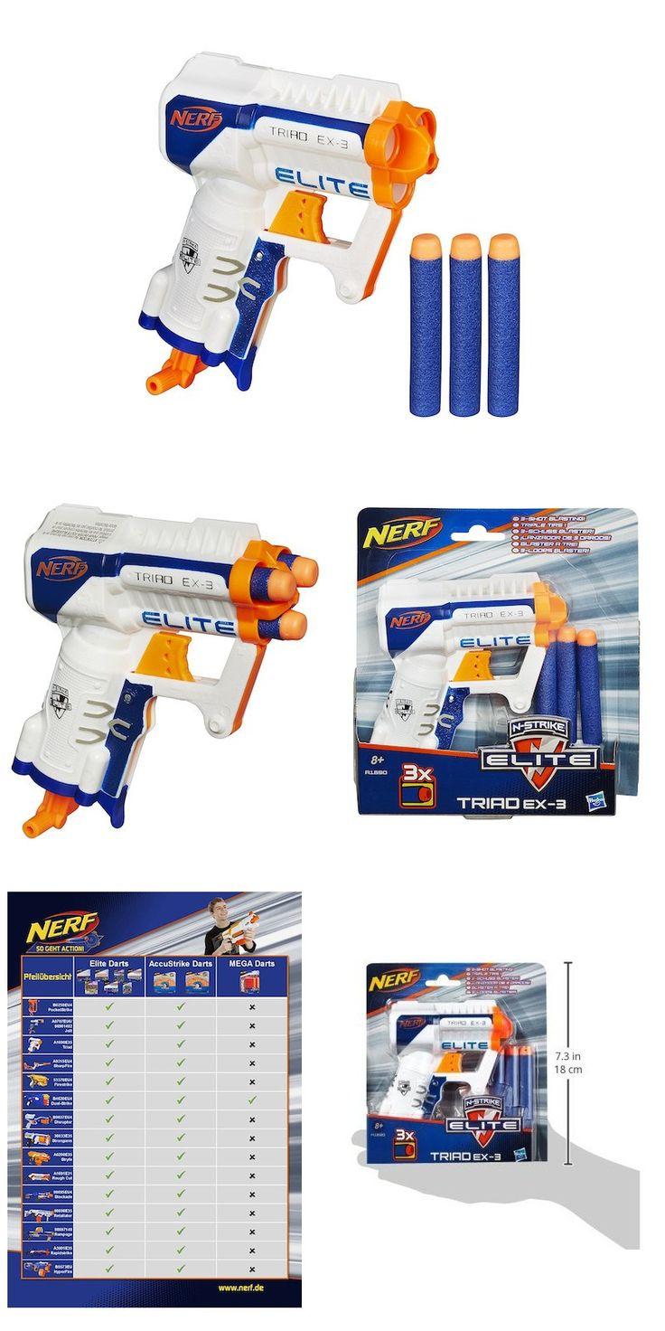 Foto Pistola Elite Triad 3, arma de juguete. Lanzadardos Elite XD Triad