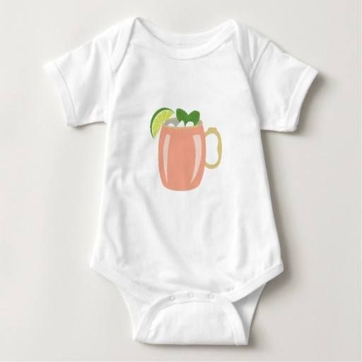 (Moscow Mule Drink Baby Bodysuit) #Alcohol #Beverage #COCKTAIL #Drink #Food #Fruit #Glass #Leaf #Lime #Liquor #Mint #Moscow #Mule is available on Funny T-shirts Clothing Store   http://ift.tt/2eKAECo
