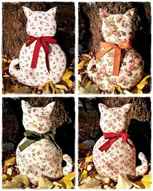 Macska - párna őszi színekben  Mirtusz : Párizsi Macskák - Ősz