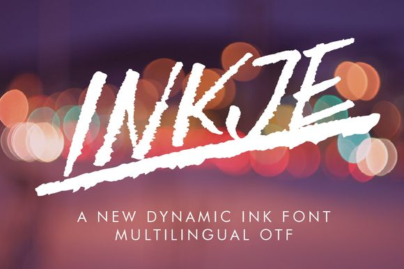 Inkje Italic Font by FontsByAteliervonau on @creativework247